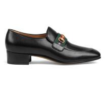 Loafer aus Leder mit GG Horsebit