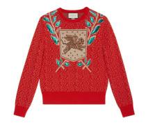 Pullover aus Wolle mit Fliegender-Tiger-Motiv