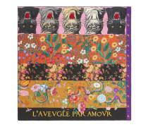 Schal aus Seide mit Patchwork-Print