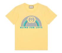 Übergroßer T-Shirt mit Regenbogen-Print