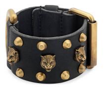 Breites Armband aus Leder