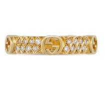 Ring aus Gelbgold mit Diamanten und GG