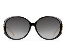 Sonnenbrille mit gespritztem Rahmen und spezieller runder Form