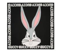 Halstuch aus Seide mit Bugs Bunny-Print