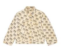 Jacke aus Denim mit Gucci Stamp-Druck