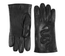 Handschuhe aus Leder mit Schlangen-Prägung