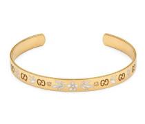 Icon Armband aus Gelbgold mit Diamanten