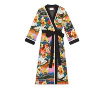 Kimono aus Seide mit Hawaii-Print