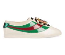 Falacer Sneaker aus Lackleder mit Webstreifen