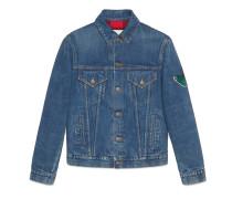 Jacke aus Jeans mit Stickereien