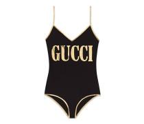 Badeanzug aus Stretch-Gewebe mit GucciPrint