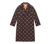 Mantel aus Wolle mit GG Diamond-Motiv
