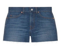 Shorts aus Denim mit gestrickten Patches