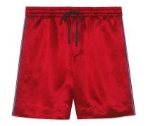 Shorts aus Azetat mit GGStern
