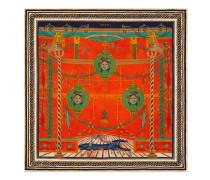 Halstuch aus Seide mit Rom-Print