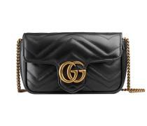 GG Marmont Super-Mini-Tasche aus Matelassé-Leder