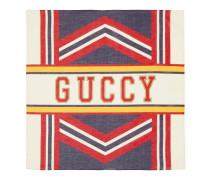 Tuch mit Guccy-Print im College-Stil