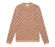 Pullover mit GG Motiv aus Kristallen