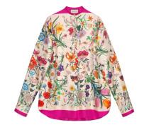 Übergroßes Hemd mit Flora-Print