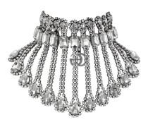 Halskette aus Metall mit Kristallen