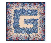 Halstuch aus Seide mit Blumen-Square G-Print