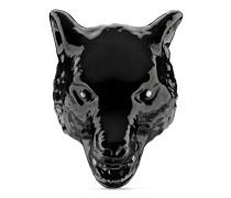 Anger Forest Ring aus Email mit Wolfskopf