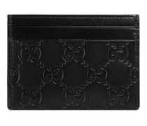 Kartenetui aus Gucci Signature Leder
