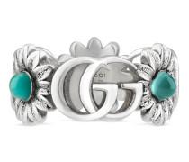 Doppel G und Blumen-Ring