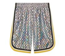 Shorts aus laminiertem GG Jersey
