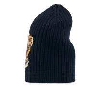 Mütze aus Wolle mit Tiger