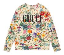 Übergroßer Pullover mit Gucci Print