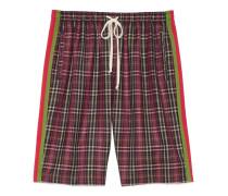 Übergroße Baumwoll-Shorts mit Schottenkaro