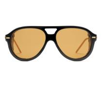 Sonnenbrille in Pilotenform mit Scheuklappen