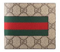 Portemonnaie aus GG Supreme mit Webstreifen