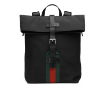 Rucksack aus schwarzem Technostoff