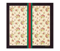 Halstuch aus Seide mit Blumenstrauß-Print