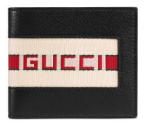 Brieftasche aus Leder mit Streifen