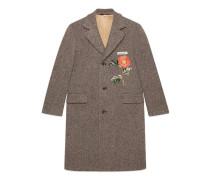 Mantel aus Wolle mit Stickereien