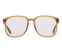 Brille mit quadratischem Rahmen aus Acetat