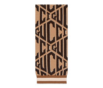 Schal aus Gucci Game-Wolljacquard