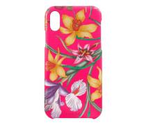 iPhoneX/XS-Etui mit Flora-Print