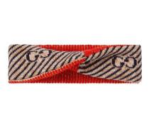 Stirnband aus Wolle mit GG Streifen