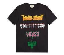 Übergroßes T-Shirt mit Gucci Metal-Print