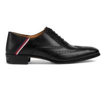 Brogue-Schuh aus Leder mit Sylvie Web