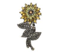 Blumen-Brosche mit Kristallen