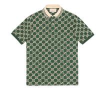 Poloshirt aus Stretch-Baumwolle mit GG Motiv