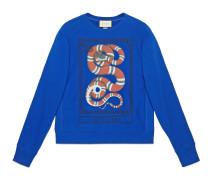Pullover aus Baumwolle mit Kingsnake-Print