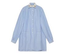 Übergroßes Hemd aus gestreifter Baumwolle