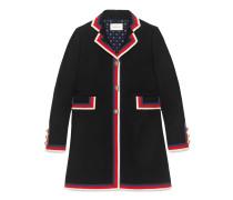 Mantel aus Wolle mit SylvieWebstreifen