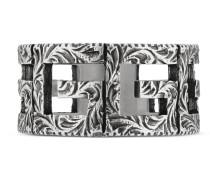 Square G Ring aus Silber